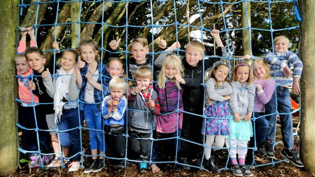 Omata School has seven sets of twins on its school roll this year. L to R: Sophie and Jack Campbell, 8, Mya and Ruby ...