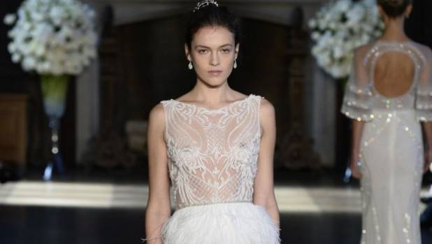 Naked Dress Trend Hits Bridal Fashion Week Stuff Co Nz