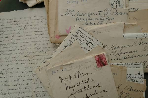 Treasured letters home.