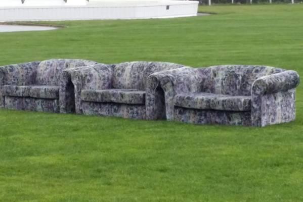 Park benches at Kelburn Park