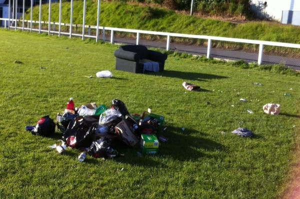 Some may call it modern art. Neighbours of Kelburn Park would disagree