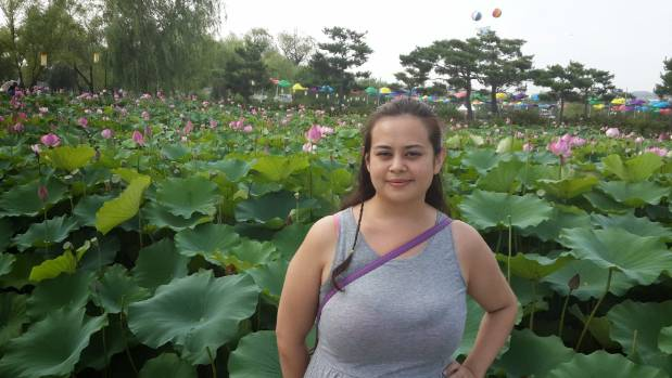 Ardyn Baia at the Buyeo Lotus Park during the summer.