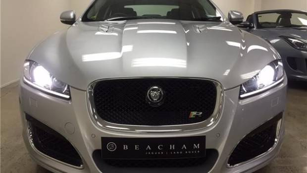 This Jaguar XFR was stolen from an Auckland dealership in a scene similar to car heist movie Gone in 60 Seconds.