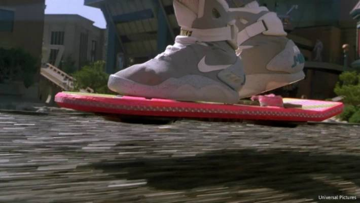buy popular ea9f3 4898e The self-lacing kicks in action in Back to the Future II.