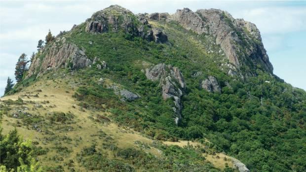 Panama Rock at Le Bons Bay, Banks Peninsula. Sam Hampton, University of Canterbury volcanologist, wants to create a ...