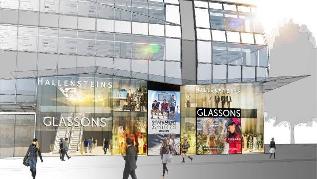Designs for Hallensteins' and Glassons' flagship stores planned for Cashel St.