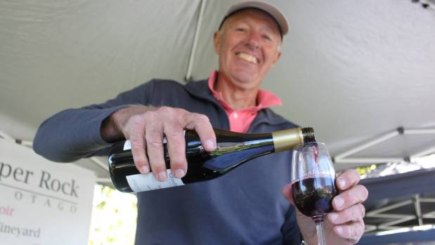 Angus Bradshaw, of Grasshopper Rock, at the Alexandra Wine Growers New Release Event, at Olivers in Clyde. The event ...