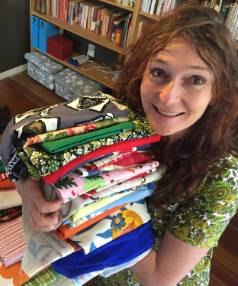 Josie Brennan prepares for the Fabric-a-Brac event in Palmerston North.