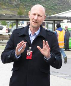 Kiwi Regional Airlines chief executive Ewan Wilson outside Queenstown Airport after the airline's inaugural flight into ...