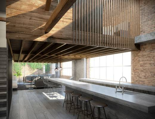 Character loft apartments transforming historic ford for Apartment design nz