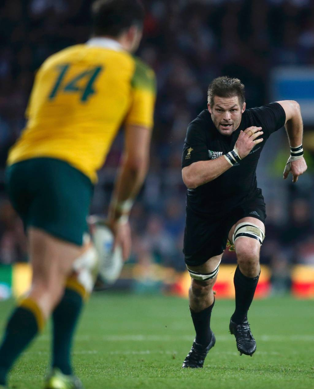 Sam Whitelock Breaks A Tackle: Rugby World Cup: All Blacks Make History As First Back-to