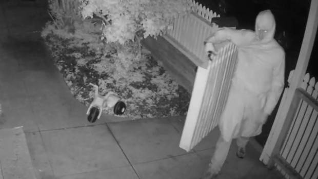 A creepy thief made off with a Kilbirnie family's beanbag.