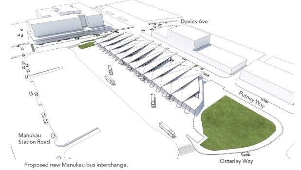 New Bus Station For Manukau