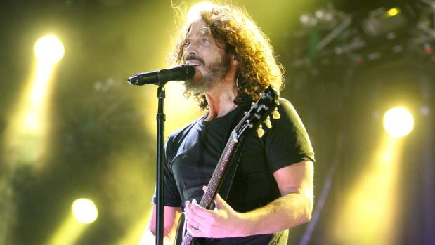 Soundgarden Vocals Chris Cornell performing at the Big Day Out at Auckland's Mt.Smart Stadium.