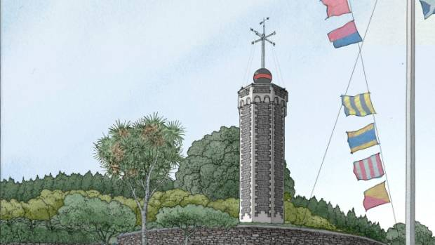 An artist's impression of how the timeball tower will look after restoration.