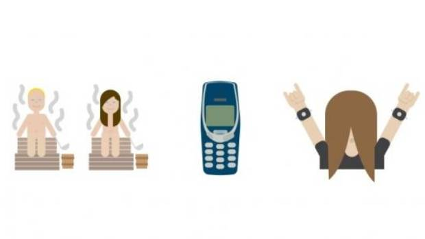 A set of Finland's emoji which is due to be released in December.
