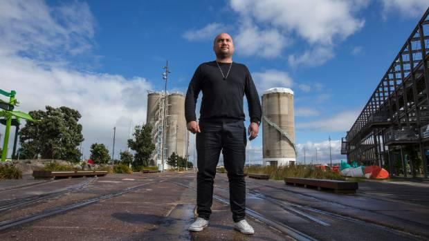 21102015 News Photo: Peter Meecham/ Fairfax NZ Laneways festival boss Mark Kneebone pictured at Silo Park on Auckland's ...