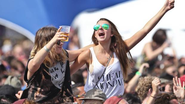27012014 News Photo: Chris Skelton/Fairfax NZ. Fans at the Laneway Festival held at Silo Park, Auckland.