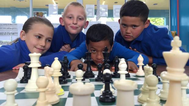 Grace Kuil, Riley Stanaway, Tevita Pasikala and Pharus Paewai traveled to a Hawke's Bay regional chess competition last ...