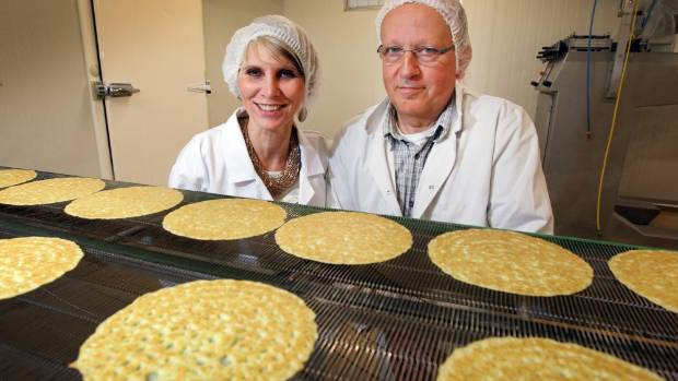 Owners of Van Dyck fine Foods, Inge & Marcel Vercammen. The couple's pancake business won the supreme award at TSB Bank ...