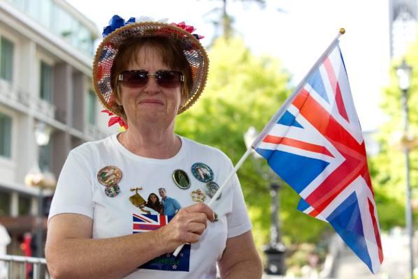 Royalist Jane Leaning of Nelson on Trafalgar Street.
