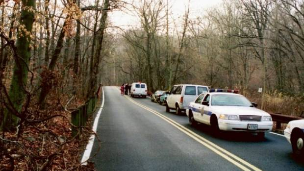 Leakin Park crime scene, 1999, murder of Hae Min Lee. Adnan Syed was convicted of the murder in 2000.