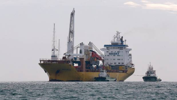 The heavy lift ship was right on schedule, reaching the pilot's station at the port about 8am.