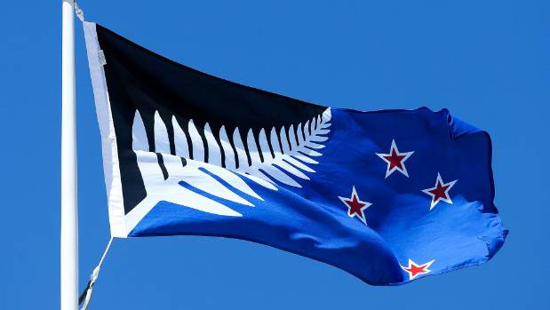 Silver Fern (Black, White and Blue) is the PM's pick for the new flag.