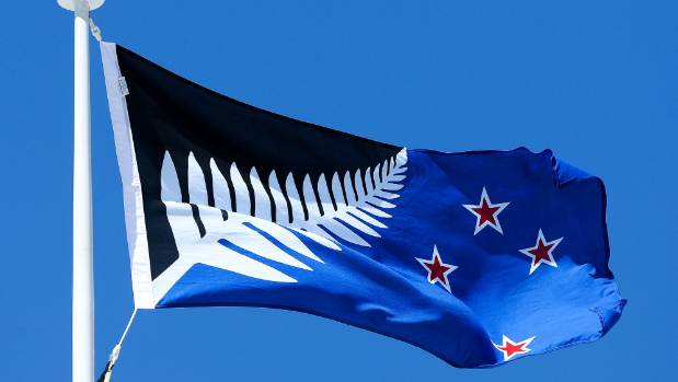 Silver Fern (Black, White and Blue) by Kyle Lockwood is the preliminary winner of the flag referendum.