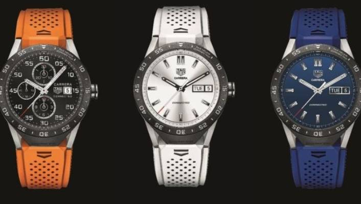 626699dceee The Tag Connected watch is made of titanium and sold with a choice of seven  rubber