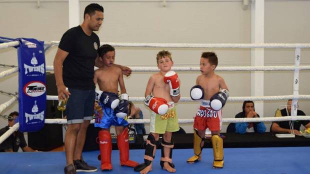 Nik Jessop welcomes some of the smallest fighters on to the stage.