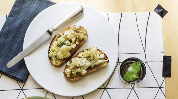 Recipe cauliflower walnut and feta bruschetta stuff next food wine story forumfinder Choice Image