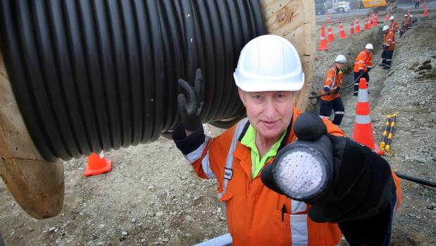 Robbie Mehrtens of Robbie Mehrtens Electrical says the cables he's laying for PrimePort's No 2 wharf are a whole new ...