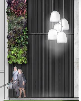 Enhanced lighting and a wall of plants will also be added to Masons Lane to improve the experience for those walking through.