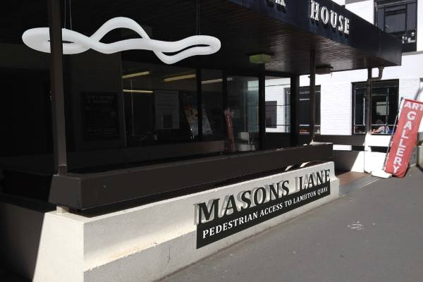 The entrance to Masons Lane, from The Terrace, will be tidied up with funky lighting and new signage.
