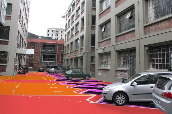 Car parks in the new-look Leeds St will be painted to look like shoe boxes in a nod to old R Hannah & Co shoe factory ...