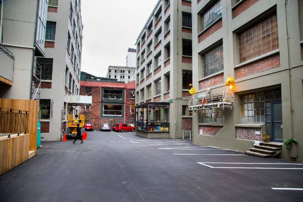 Leeds St as it looks before its $500,000 Wellington City Council makeover, to be completed by Christmas.