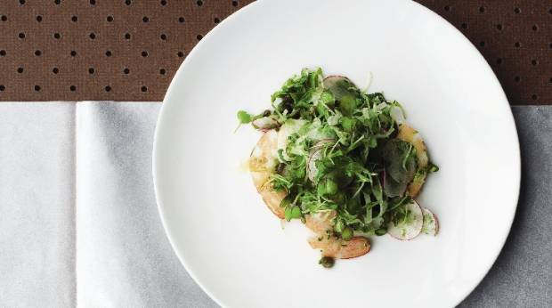 Recipe: Poached prawn, fennel and radish salad with lemon ...