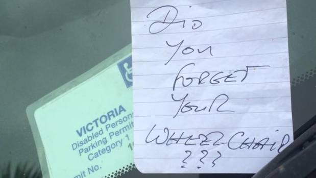 The nasty note ruined a pleasant morning.