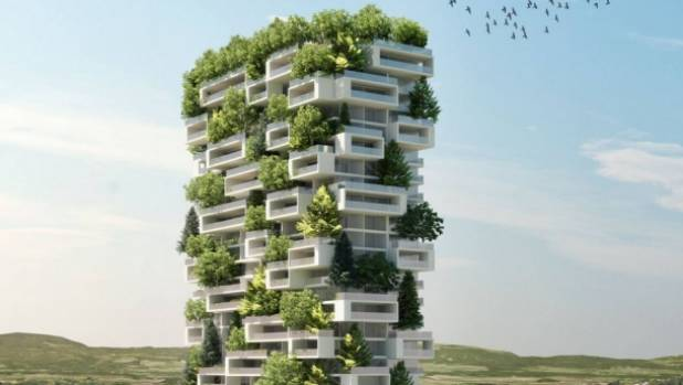 Unique vertical forest planned for switzerland for Au buro lausanne