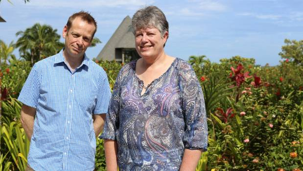 Sunday Star Times and Stuff.co.nz winners of the Nurture Change business retreat in Fiji, Dave Lewis and Jo Williamson.