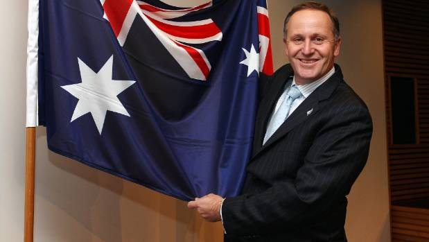 John Key - his flag referendum looks to have flopped, but his Government still rides high.