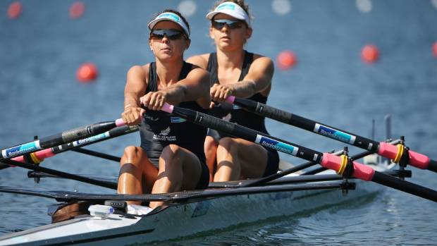 Julia Edward, left, set a new indoor rowing world mark over 5km.