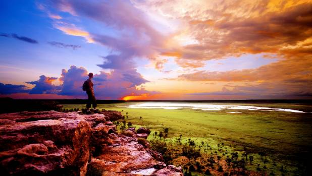 The sun sets over Kakadu in Australia's Northern Territory.