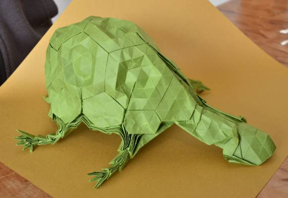 Origami turtle, by Joseph Sime.