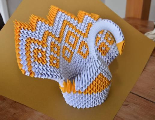 Origami swan, by Joseph Sime.