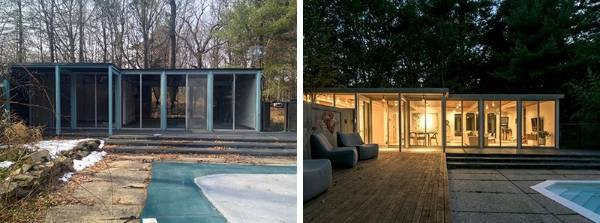 11606c4553ec This Mid-century Modern pool house and art studio has been transformed into  a stunning