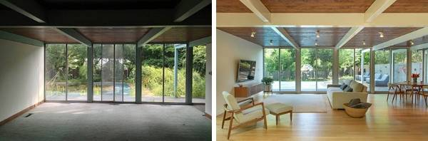 Pool house is transformed into fabulous mid-century home   Stuff.co.nz