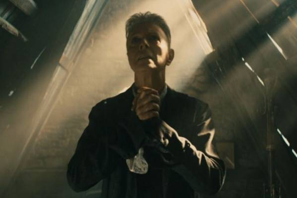 David Bowie in the video for Blackstar, the album he released only a few days ago on 8 January 2016, on this 69th birthday.