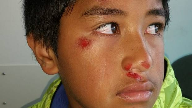 Glenbrae School pupil Trent Mataroa said he had no idea what was going to happen, he just went along with the older boys